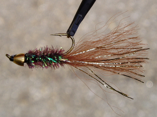 Zen worm fly pattern for Surf fly fishing